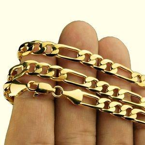"SALE 🎈Italian Figaro chain 24k GOLD 30"" necklace"